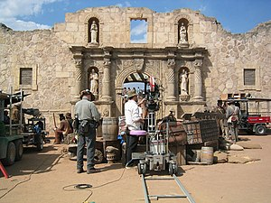 The Alamo (2004 film) - The set of the Alamo used during filming.