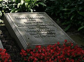 Albert Fraenkel - His grave in Heidelberg