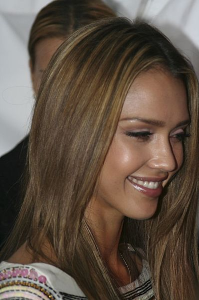 Red Hair On Olive Skin. jessica alba hair color