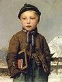 Albert Anker - Schulknabe mit Schiefertafel in Schneelandschaft.jpg