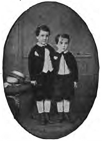 Albert Chevalier - Chevalier (left) and his brother, Auguste in the 1870s