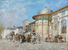 阿尔贝托·帕西尼意大利画家Alberto Pasini (Italian, 1826–1899) - 文铮 - 柳州文铮