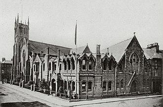 Wesleyan Church, Aldershot - The Wesleyan Church and Soldiers' Home c1897