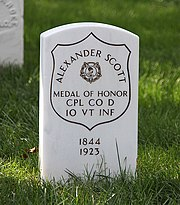Alexander Scott grave - Arlington National Cemetery - 2011