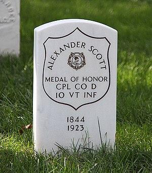 Alexander Scott (Medal of Honor) - Scott's headstone at Arlington National Cemetery