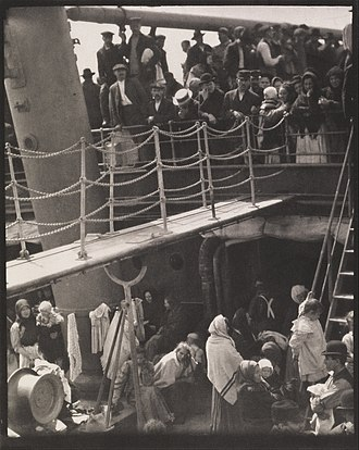 Princeton University Art Museum - Alfred Stieglitz, The Steerage, 1907, the first photo added to the Museum's collection, gift of Frank Jewett Mather Jr.