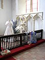 All Saints Church - wedding display by C14 sedilia - geograph.org.uk - 1373962.jpg