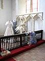 All Saints Church - wedding display by C14 sedilia - geograph.org.uk - 1373962.jpg