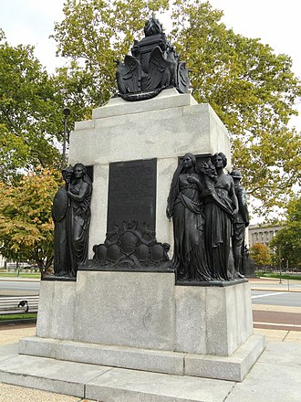 All Wars Memorial to Colored Soldiers and Sailors - Reverse of the monument.