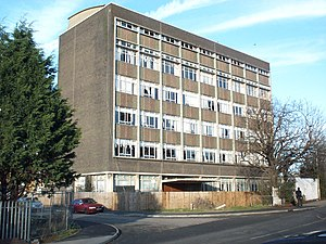 Queens Park, Bedford - The Allens Tower (demolished 2009), the space occupied by this office tower is now designated to be a medical centre.