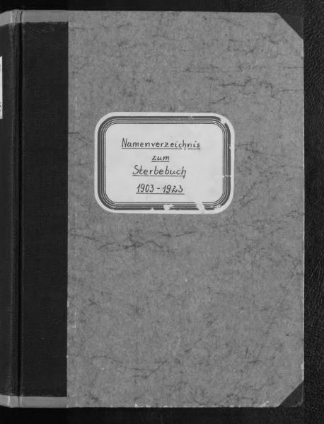 File:Alphabetisches Namensverzeichnis zum Sterberegister des Standesamtes Minden, 1903 bis 1923.djvu