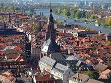 Il centro storico con la Heiliggeistkirche