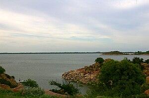 Lake Altus-Lugert - Lake Altus-Lugert, looking east