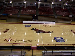 Hagan Arena - The interior of Alumni Memorial Fieldhouse before the renovation