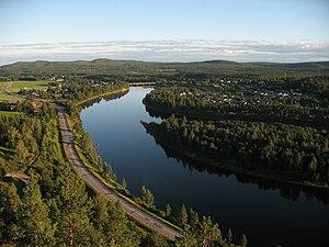 "Älvsbyn - 2007 view from Hundberget (""dogmountain"")."