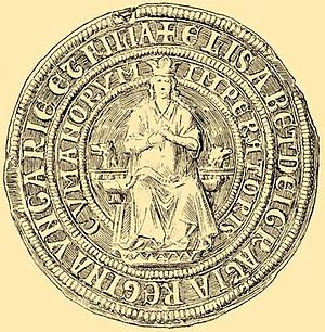 Stephen V of Hungary - Seal of Stephen's wife, Elizabeth the Cuman