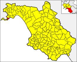 サレルノ県におけるコムーネの領域
