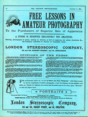 Amateur Photographer - Image: Amateur Photographer, Vol 1, No 1, rear cover copy