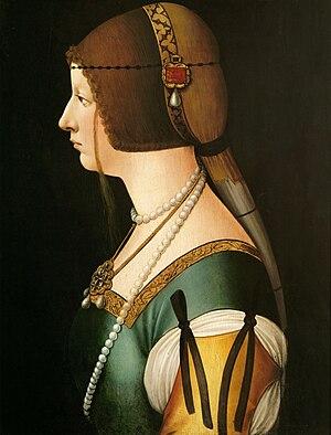 Bianca Maria Sforza - Bianca Maria Sforza by Ambrogio de Predis ca. 1493/1495