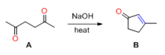 Aldol reaction - Fig. 1: An example of intramolecular aldol reaction
