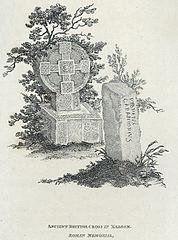 Ancient British cross in Margam. Roman memorial