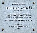 András Dugonics plaque Bp08 Dugonics17-21.jpg