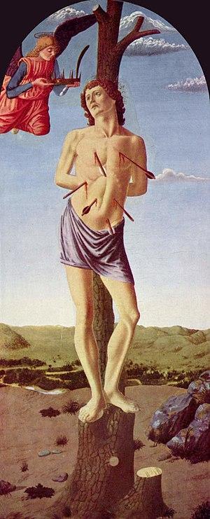 Martyrdom of Saint Sebastian (Piero del Pollaiolo) - Image: Andrea del Castagno 003
