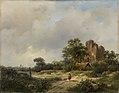 Andreas Schelfhout - Landschap met de ruïne van kasteel Brederode te Santpoort.jpg