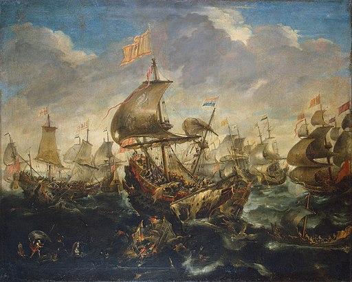 Andries van Eertvelt - Sea Battle - WGA7474