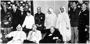 Ahmed Balafrej - D'anfa Conference, with Roosevelt and Churchill, 1943