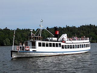 MV <i>Angantyr</i> Strömma Kanalbolaget passenger ferry and listed historical ship in Sweden