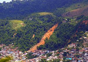 January 2010 Rio de Janeiro floods and mudslides - Angra dos Reis (RJ) - Vista do Morro da Carioca, in central Angra, where people died in the landslides.