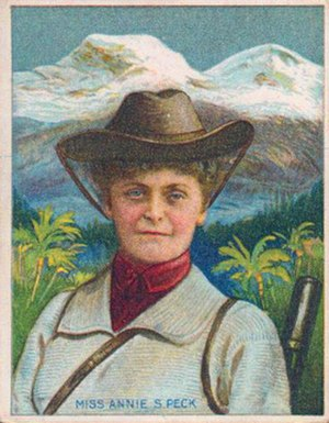 Annie Smith Peck - Annie Smith Peck, from a trading card issued in 1911