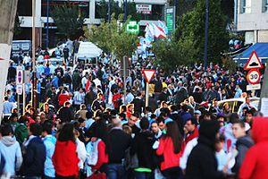 Celta de Vigo - Celta de Vigo supporters before a game