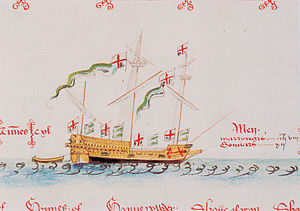 William Wynter - The Lyon, Wynter's flagship in 1560, from the Anthony Roll of 1547