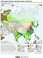 Anthropogenic Biomes of the World, Version 2, 1800 Asia (13603692374).jpg