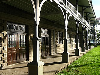 Silliman University - Ground floor terrace of the Anthropology Museum
