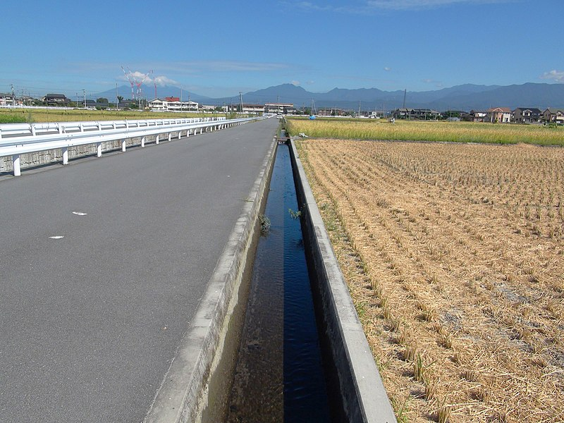 ファイル:Anti Schistosoma japonicum measure waterway.JPG
