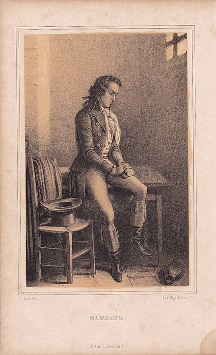 Barnave in prison where he wrote his Introduction to the French Revolution AntoineBarnave.jpg