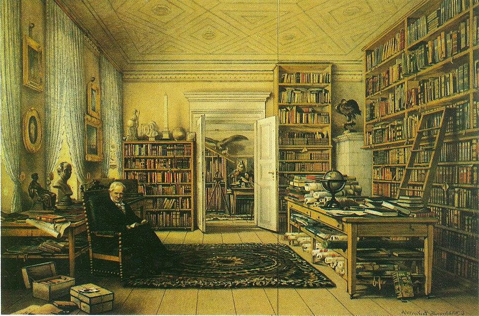 Arbeitszimmer des Alexander von Humboldt in Berlin, Oranienburger Str. 67 (Gemälde)
