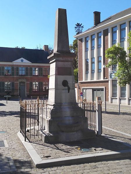Bluestone pump in Heist-op-den-Berg (Belgium), monument honoring the veterans from 1830