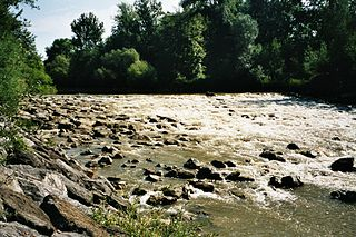 Argen river in Baden-Württemberg, Germany