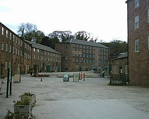 Textile manufacture during the Industrial Revolution -  Arkwright's Cromford Mill.