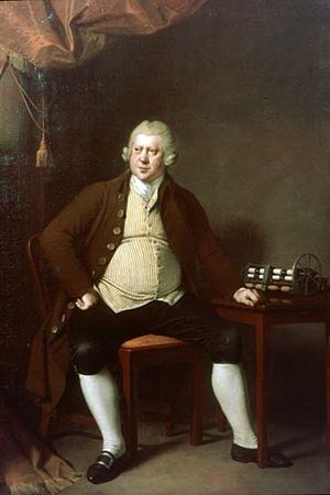 Richard Arkwright junior - Richard Arkwright senior, by Joseph Wright (1790)