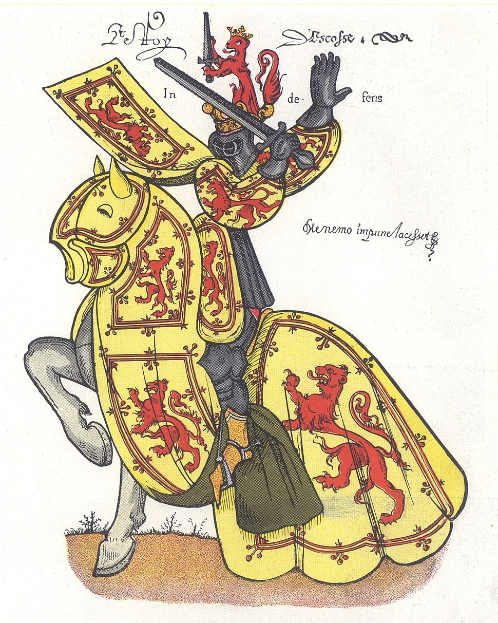 Armorial depiction of the King of Scots