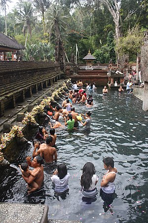 Tirta Empul - Ritual purifying bath at Tirta Empul.