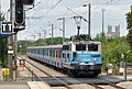 Arrivée d'un train en gare de Limay, Yvelines, France, en provenance de Mantes le 30 août 2014.jpg