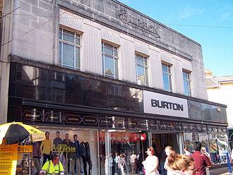 Burton (retailer) - Art Deco Burton store in Abergavenny