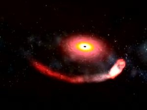 File:Artist's impression of a black hole devouring a neutron star (600 kbps).ogv