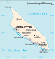 Outline Of Aruba Wikipedia - Aruba physical map